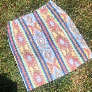 Vintage Aztec Skirt
